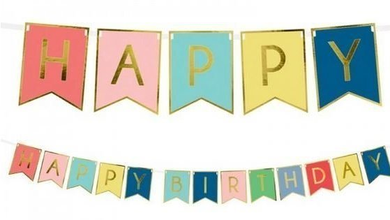 Geburtstag Girlande